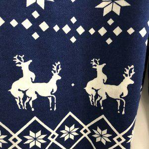 Tipsy Elves Mens Blue Naughty Reindeer Joggers M